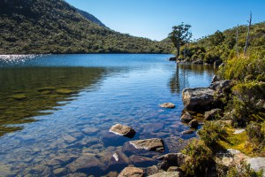 glacial lake Hartz Mountains, Tasmania