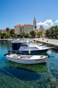 Brac, Croatia - May 07, 2016: Supetar harbor, Brac Island